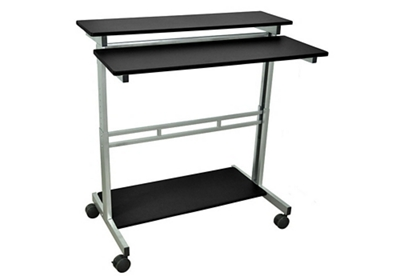 "Alderholt Adjustable Height Mobile Desk - 39.4""W"
