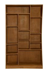 """13 Compartment Left-Facing Cube Bookcase- 79""""H"""