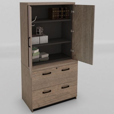 "Urban Wardrobe with Lateral File - 36""W"