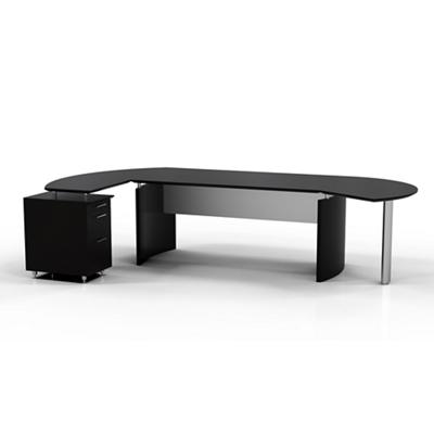 "Contemporary L-Desk with Left Return - 116""W x 63""D"