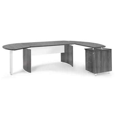 "Contemporary L-Desk with Right Return - 116""W x 63""D"