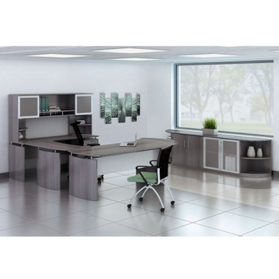 "Complete Contemporary U-Desk Office Set - 119""W x 104""D"