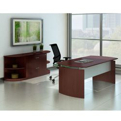 Contemporary Executive Desk Suite