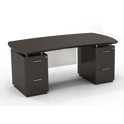 "Double File Pedestal Executive Desk with Modesty Panel - 72""W"