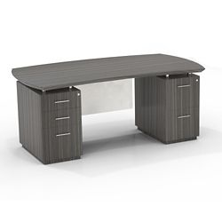 """Double Mixed Pedestal Executive Desk with Modesty Panel - 72""""W"""