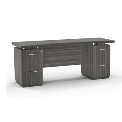 "Double File Pedestal Credenza with Modesty Panel - 72""W"