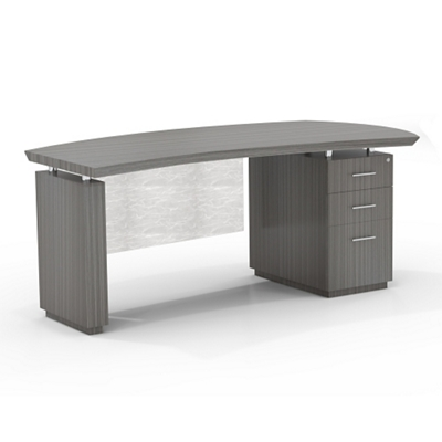"Right Pedestal Desk with Modesty Panel - 66""W"