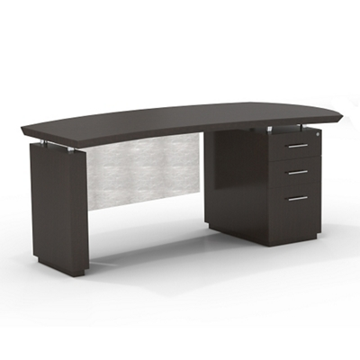 "Right Pedestal Executive Desk with Modesty Panel - 72""W"