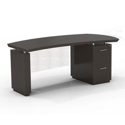 """Right File Pedestal Executive Desk with Modesty Panel - 72""""W"""