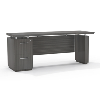"""Reversible File Pedestal Credenza with Modesty Panel - 66""""W"""