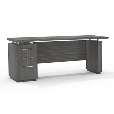 """Reversible Pedestal Credenza with Modesty Panel - 66""""W"""