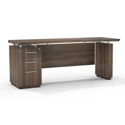 "Reversible Pedestal Credenza with Modesty Panel - 66""W"