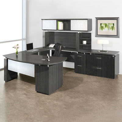 Right U-Desk with Hutch and Storage