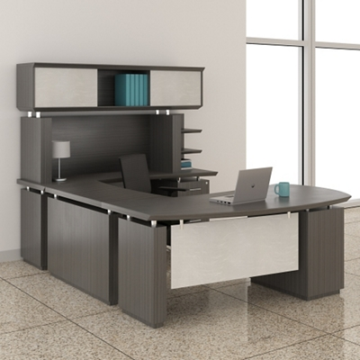 "Right Executive U-Desk with Hutch - 72""W"