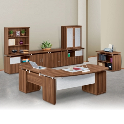 Right Bowfront Complete L-Desk Office Suite