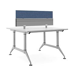 "Dual-Sided Two Person Workstation with Divider - 48""W x 48""D"