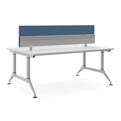 Dual Sided Two Person Workstation With Divider 72 W X 48 D By