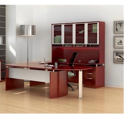 U-Desk with Hutch and Right Bridge