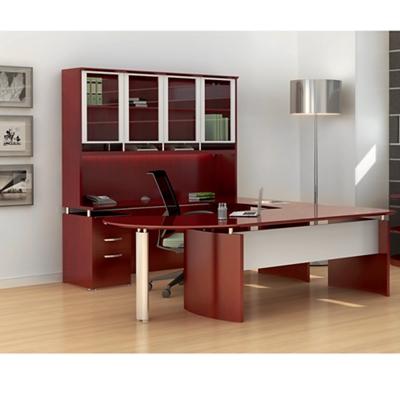 U-Desk with Hutch and Left Bridge