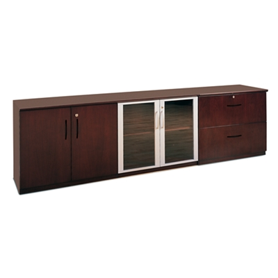 Storage Credenza with Lateral File Set
