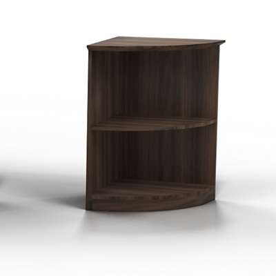 """30""""H 2 Shelf Contemporary Corner Bookcase"""