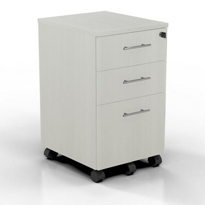 "15.5""W 3 Drawer Contemporary Mobile Pedestal"