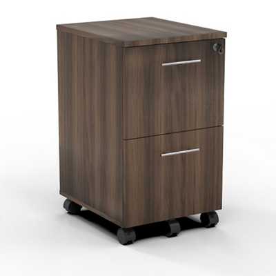 "15.5""W 2 Drawer Contemporary Mobile Pedestal"