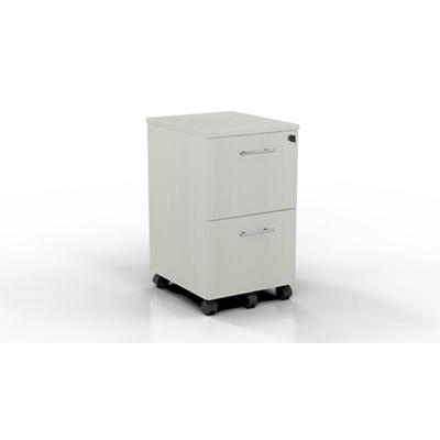 "15.5""W 2 Drawer Contemporary Mobile Pedestal"