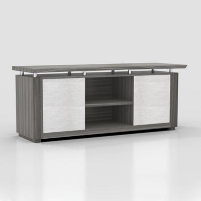 "Six Shelf Low Wall Cabinet with Acrylic Doors - 72""W"