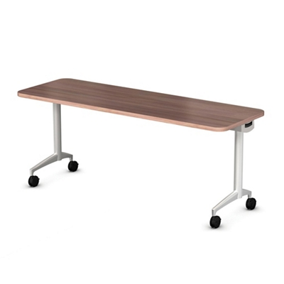 "Mobile Flip Top Nesting Table - 48""W x 24""D"