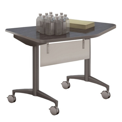 """Mobile Flip Top Nesting Transition Table with Modesty Panel - 48""""W x 24""""D"""