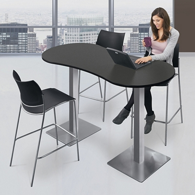 """Standing Height Peanut Shaped Table - 72""""W"""
