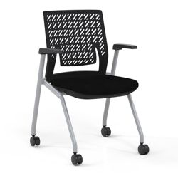 Flexible Back Nesting Chair with Fabric Seat