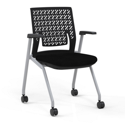 Flexible Back Nesting Chair With Fabric Seat   51553 And More Lifetime  Guarantee