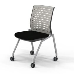 Armless Nesting Chair with Fabric Seat