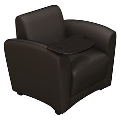Leather Mobile Lounge Chair with Tablet Arm
