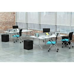 Dual-Sided Eight Person Workstation