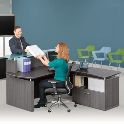 Reception Desk and Lateral File Set