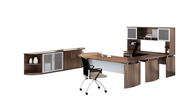 "Complete Contemporary Left U-Desk Office Set - 119""W x 104""D"