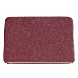 "Set of 4 Faux Leather Coasters - 4.5""W x 4.5""H"