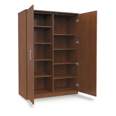 "Divided Mobile Storage Cabinet - 48""W x 24""D"