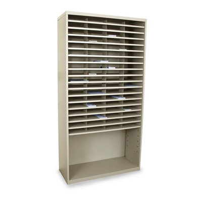 72 Pocket Mail Sorter with Storage Shelf
