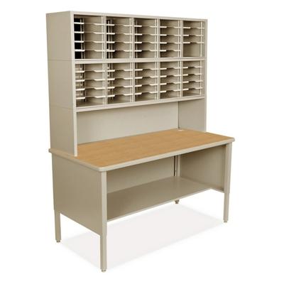 Mailroom Organizer w/ Open Storage, 50 Pockets