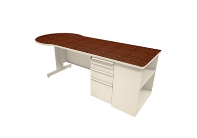 """Conference Desk with Bookcase - 30"""" D x 87"""" W"""