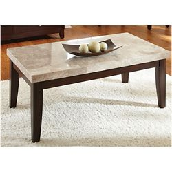 Monarch Marble Top Rectangular Coffee Table