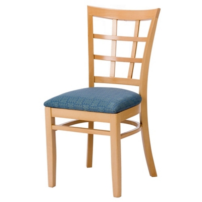 Lattice Wood Back Chair With Vinyl Seat   44377 And More Lifetime Guarantee