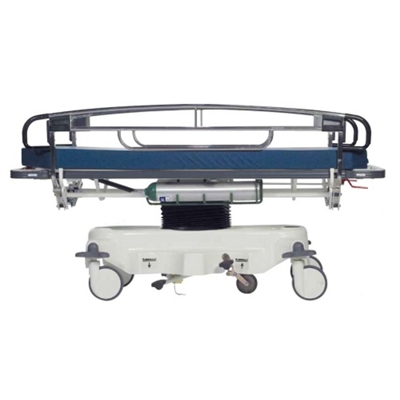 Adjustable Height Transport Stretcher with Tuck-Away Rails