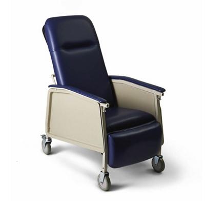 Narrow Mobile Patient Recliner with Adjustable Headrest