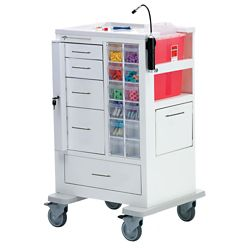 """Phlebotomy Cart with Five Drawers and Gatelock - 45""""H"""