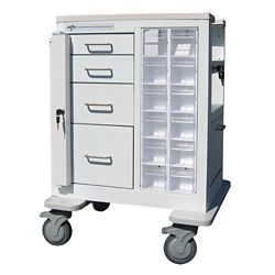 """Phlebotomy Cart with Four Drawers and Gatelock - 37.25""""H"""